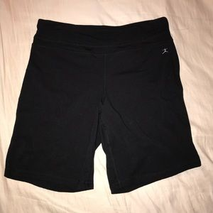 Danskin Black Bermuda Athletic Shorts, NWT